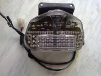 gsxr 600 750 k1 2 3 clear led tail light,integrated indicators ; E marked