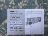 Sharp mini system model CD-SW340H