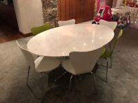 Dining table with 5/6 chairs