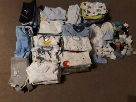 Baby boy clothes 0-3 months 168 items
