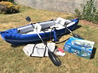 QUALITY SEVLOR 2 MAN KAYAK & SEVLOR PUMP only USED ONCE (Oars can be bought separate)