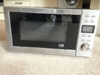 Black and silver microwave
