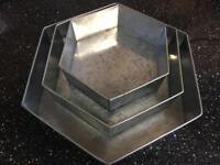 Hexagon shape cake tins