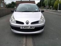 Renault Clio 2007, 1.1 petrol, Yrs MOT, 100,686mls, (07498416994)