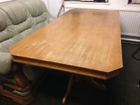 Dining Table Large, Heavy Wood & Excellent Quality, Used