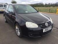 SALE! Bargain vw golf GT TDI 170, long MOT, leather, awaiting preparation