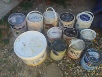 FREE EMULSION PAINT INC WHITE AND MAGNOLIA, VARIOUS COLOURS, JOBLOT, ALL FULL TUBS