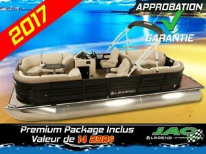 2017 Legend Boats Ponton Black Series Lounge 75 ELPT Bateau Pêch