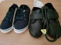 2 pair brand new boys shoes size 10