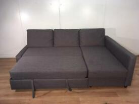 Gray corner sofa bed with free delivery within 10 miles