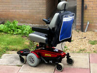 Pride Jazzy with Elevating Seat. Electric Power Wheelchair.