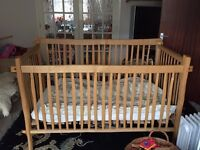 Hand-crafted cot made in Worcestershire