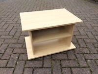 light wood effect television stand/table/shelf (2 available)