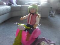 Our Generation Girl Doll with scooter and accessories