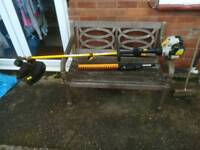 Ryobi 30cc petrol strimmer with hedge trimmer attachment