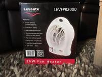 Brand new Levanté 2kW Electric Fan Heater