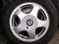 VAUXHALL ALLOYS SET OF 4 = 5 STUD FIT ASTRA SAFIRA VECTRA 195/65/15 £195