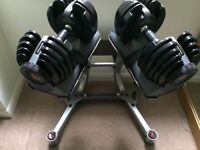 Genuine Bowflex select tech 221 (2-21kg) adjustable Dumbbells with stand, perfect condition