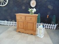 SOLID PINE FARMHOUSE DOVETAIL SIDEBOARD PROPER CHUNKY ONE EXTREMELY HEAVY UNIT