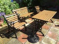 Renovated and restored vintage garden furniture set- reduced price!