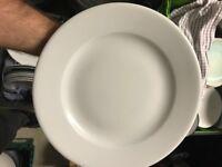 Plain white dinner plate