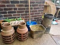 Terracotta pots chimney