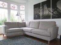Grey Woven MARKS & SPENCER Copenhagan Corner Sofa