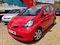 Toyota Aygo 1.0 VVT-i Red 3dr, One Lady Owner, ONLY £20 TAX/ MOT 18/2/18