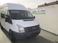 2009 ford transit m/w/b h/roof crew van with dog cages ex mot 67500 miles full mot derry belfast