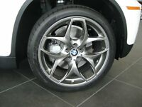 "BMW X5 21"" 215 DUAL SPOKE BLACK ALLOY WHEELS WITH TYRES E70 F15 RRP 4K!! - DELIVERY AVALIABLE"