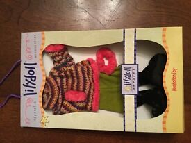 LILY RAG DOLL WINTER WALK AND BOOTS set Brand New in Box By MANHATTAN TOYS