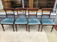 4 x Mahogany Blade Back Chairs , good quality chairs. Free Local Delivery