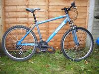A lightweight front suspension mountain bike