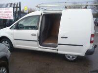 Volkswagen CADDY TDI 104,Panel Van,FSH,roof rack,tow bar,bulkhead,side loading door,ply lined