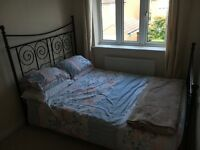NOW £50 must go tonight! Double Bed for sale, includes mattress, pillows and new sheets - £90