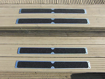 4 Pack of Aluminium Decking Steps Anti Slip Grip Plates Non Slip 635mm x 62.5mm