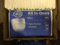 selection of adult nappies job lot