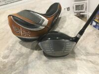 Golf club -Ping G10 Driver with stiff Flex graphite shaft, includes original Ping G10 head cover.
