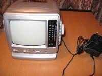 mini portable black and white TV