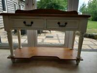 Solid pine console table or sideboard