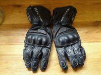 Richa WP Racing Leather Motorcycle Glove - Black Small