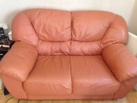 Pair of leather sofas for sale £75