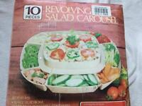 Revolving salad Carousel set 10 pieces brand new £5