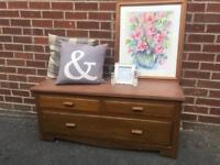 Vintage OAK drawers SOLID WOOD shabby chic RETRO DOVETAIL JOINTS