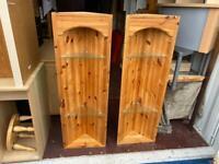 Pine corner shelves