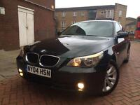 BMW 5 SERIES 530D AUTOMATIC DIESEL AUTO SUNROOF+BLINDS+BLUETOOTH+LEATHER+HISTORY+2 KEYS