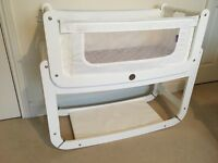 Snuzpod Baby Cot White With Mattress, Protector, 2x sheets, complete with all instructions