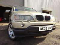 💥02 BMW X5 3.0 DIESEL SPORT AUTO 4X4,MOT JULY 017,PART HISTORY,2 KEYS,3 OWNERS,STUNNING EXAMPLE💥