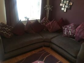 Sofa, footstool and chair