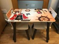 Children's Pirate table with 2 Chairs